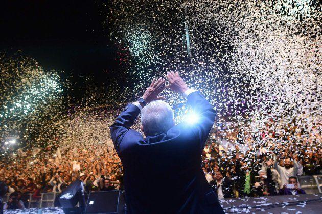 El nuevo presidente mexicano celebra su