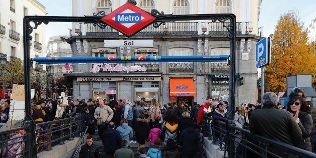 Estación de metro en la Puerta del