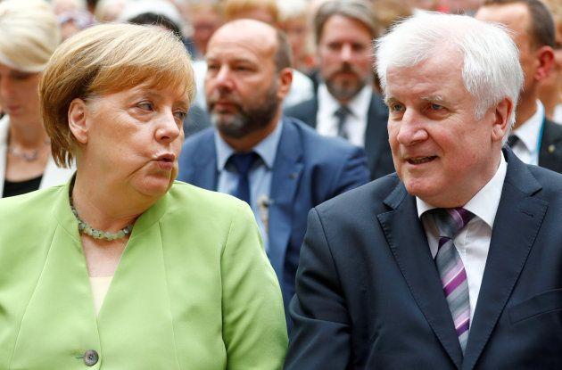 Merkel y Seehofer en un acto el pasado mes de