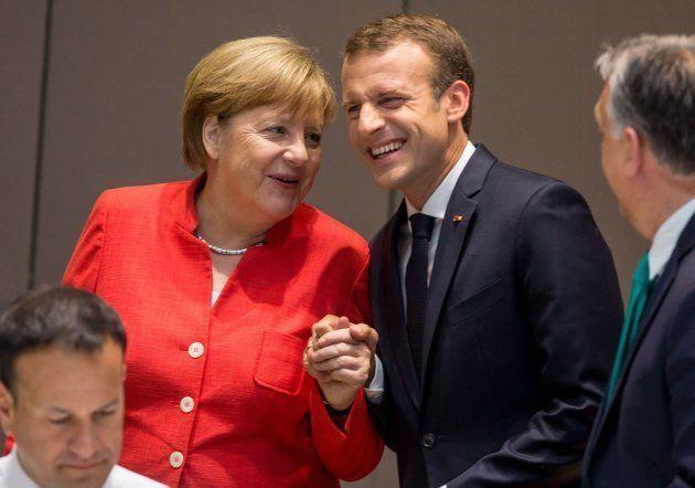 Merkel y Macron en