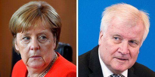 Combo con las imágenes de la canciller alemana, Angela Merkel, y su ministro del Interior, Horst