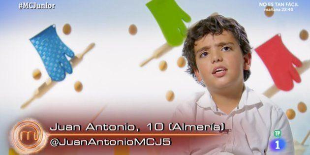 La desconcertante teoría de Juan Antonio, de 'MasterChef Junior', sobre el