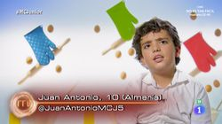 La desconcertante teoría de Juan Antonio, de 'MasterChef Junior', sobre el