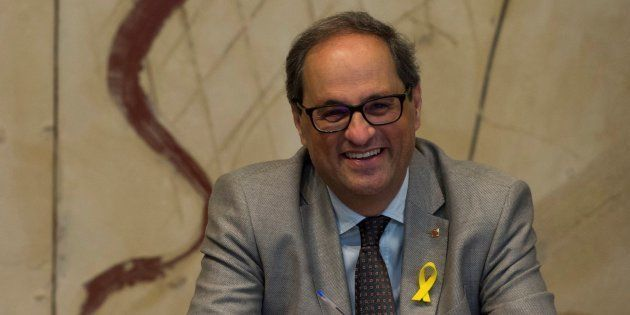 El presidente de la Generalitat, Quim Torra, en una imagen de