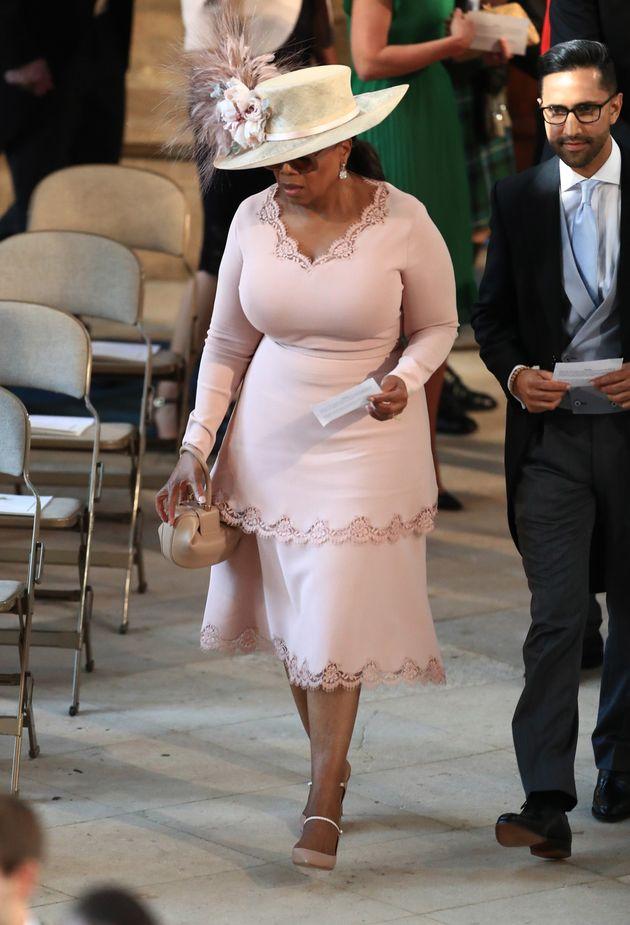 Oprah Winfrey en la boda de los duques de