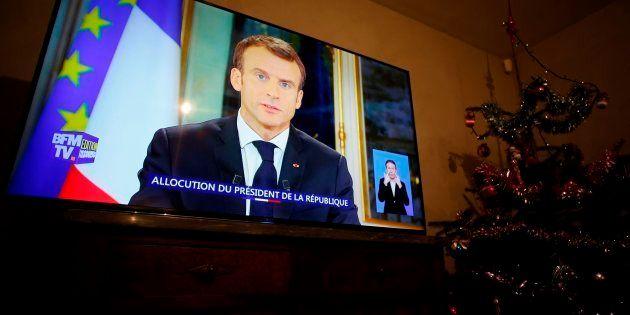 Mensaje televisado del presidente francés Emmanuel