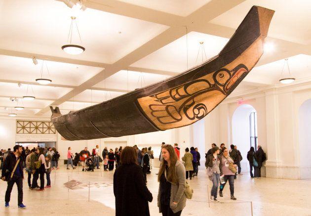 La gran canoa del Museo Estadounidense de Historia Natural de Nueva York es una de las principales