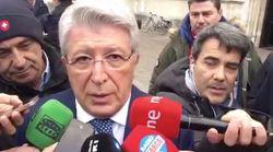 Indignación con la respuesta machista del presidente del Atlético a una