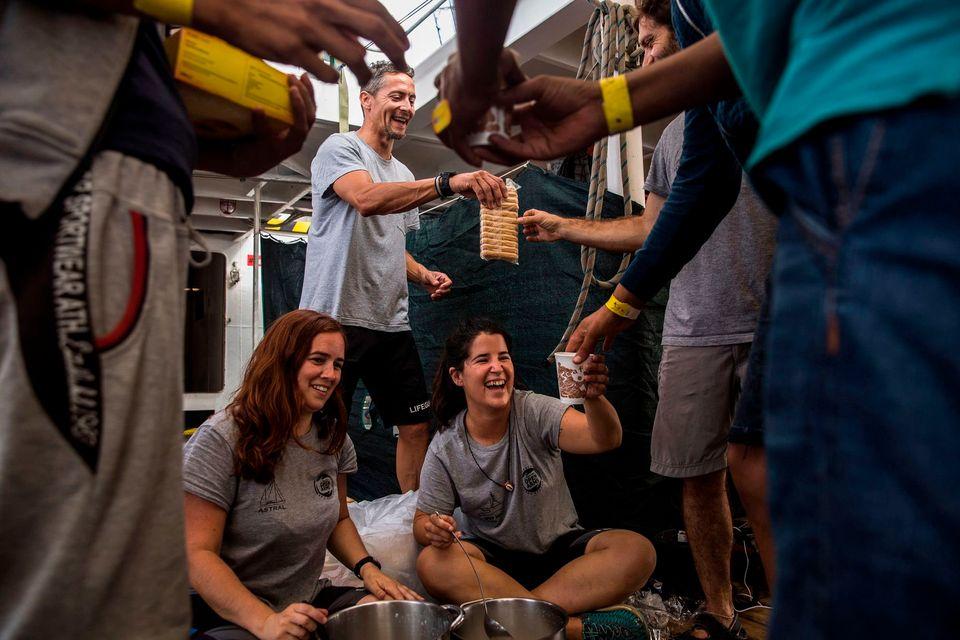 La vida durante cuatro días a bordo del 'Open