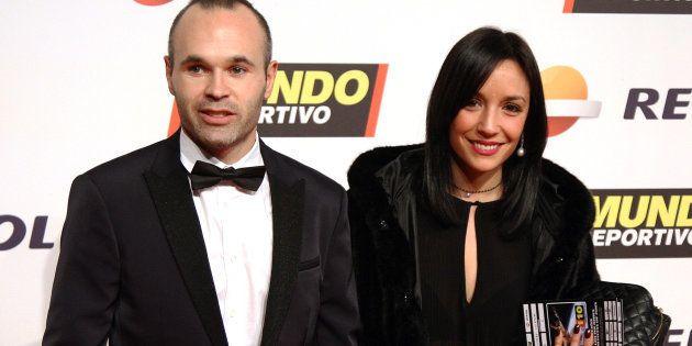 Andrés Iniesta y Anna Ortiz, en febrero de