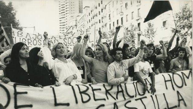 La primera manifestación del Orgullo de Madrid en