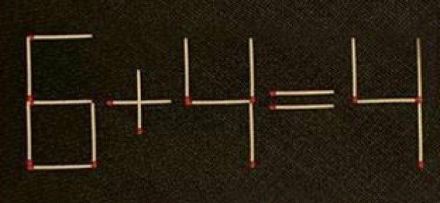 ¿Sabrías resolverlo moviendo sólo una cerilla? (Hay tres