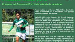 Muere un joven jugador del Coruxo FC de Vigo al precipitarse por un acantilado en