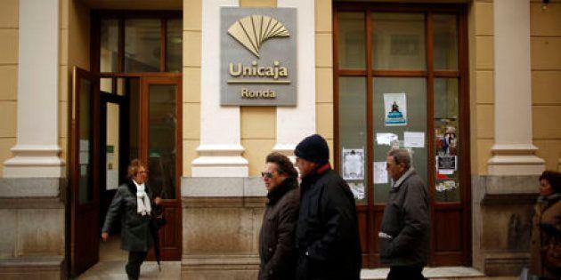 Una oficina de Unicaja en Ronda, Málaga, en una foto de