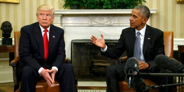 Trump y Obama, durante un encuentro que mantuvieron en noviembre de