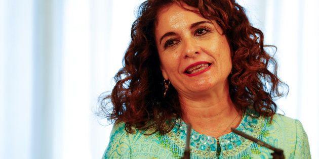 La ministra Montero, el pasado 7 de junio, en su toma de