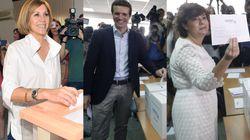 Sáenz de Santamaría gana la primera vuelta de las primarias del PP con el 37% de los votos y Casado queda en segunda posición...