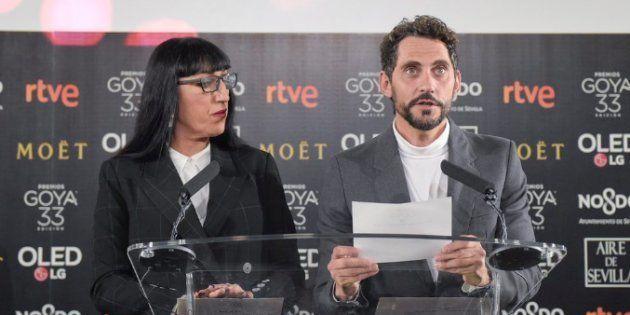 Rossy de Palma y Paco León leen la lista de nominados a los Goya