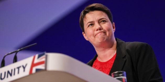 Ruth Davidson, líder de los conservadores en Escocia, durante la conferencia anual del Partido Conservador...
