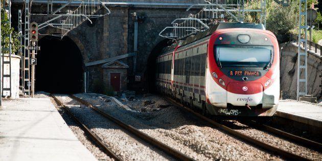 Un tren de Cercanias de Barcelona de la empresa