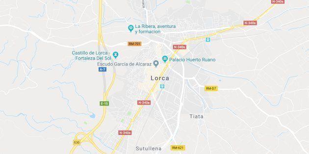 Mapa de localización de Lorca