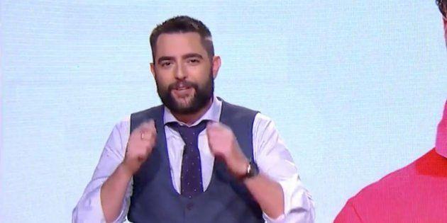 El humorista Dani Mateo en 'El Intermedio' el 12 de diciembre de