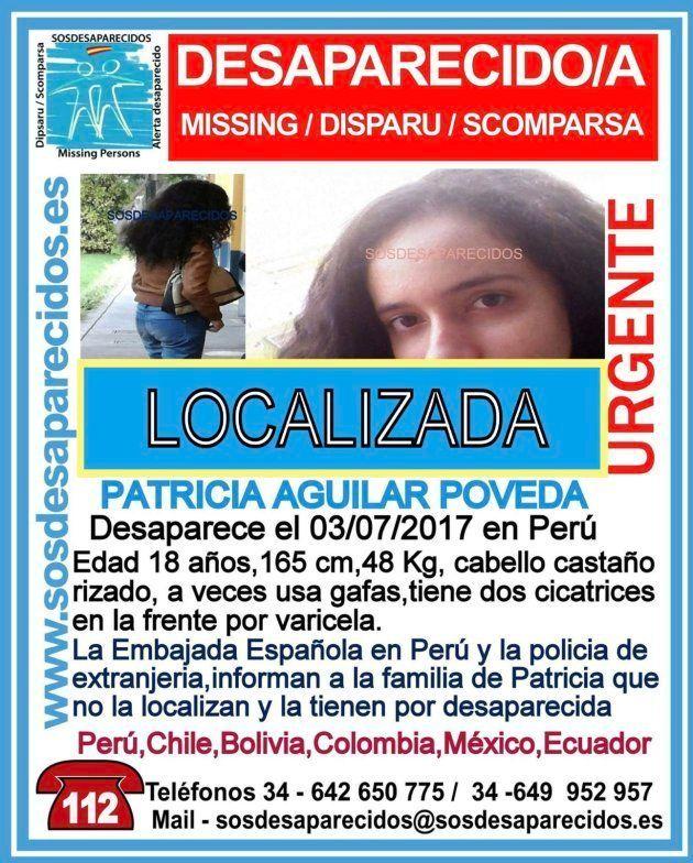 Localizada en la selva Patricia Aguilar, la chica española desaparecida en