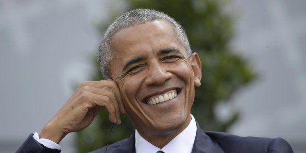 El expresidente de Estados Unidos Barack Obama en una mesa redonda en Berlín