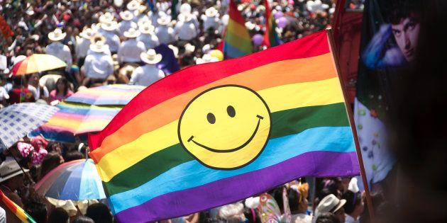 Desfile del Orgullo LGBTI en Mexico DF,