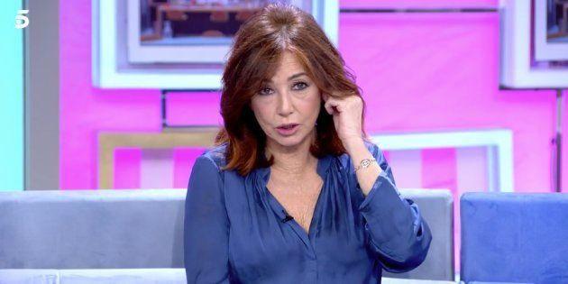 La presentadora Ana Rosa Quintana en su programa el 13 de diciembre de