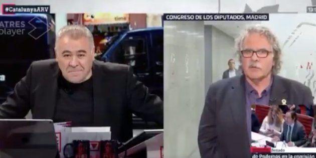 La frase de Tardà a Ferreras en Al Rojo Vivo (La Sexta) que le deja con esta cara: se oyen hasta risas...