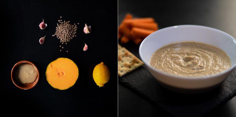 Hummus de lentejas y