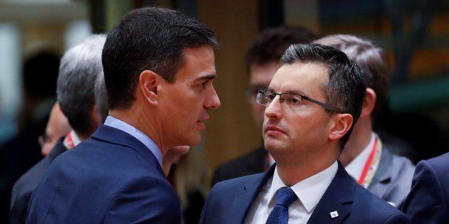 Pedro Sánchez y Marjan Sarec, durante su encuentro en