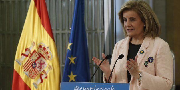 La ministra de Empleo y Seguridad Social, Fátima Báñez, durante la presentación del libro de la