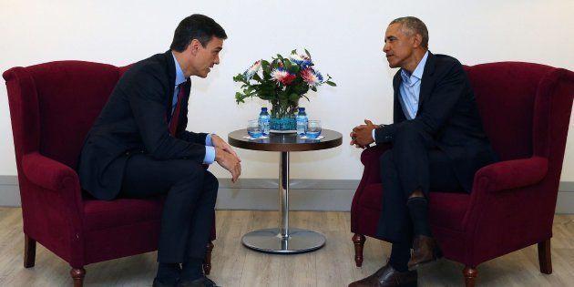 Fotografía facilitada por Presidencia del Gobierno del encuentro entre el expresidente de Estados Unidos...