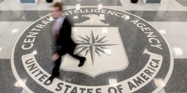 Imagen de archivo del lobby de acceso al cuartel general de la CIA en Langley,