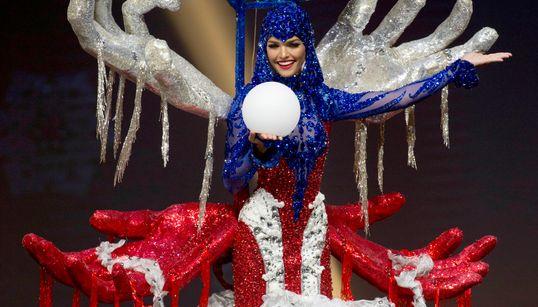 Vas a flipar con los perturbadores trajes regionales del concurso de Miss