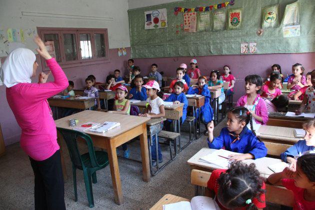 Una escuela de la UNRWA en