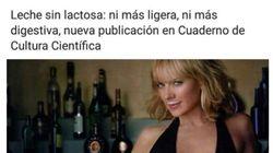 Un gran escote y leche en los labios: la imagen sexista por la que ha tenido que disculparse la Universidad del País