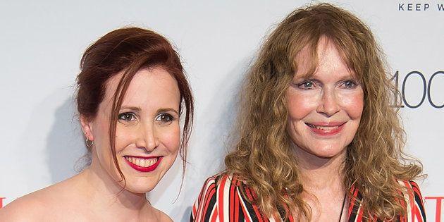 Dylan y Mia Farrow, en un evento en Nueva York en