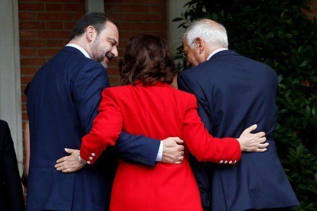 Ábalos, Calvo y Borrell, en La
