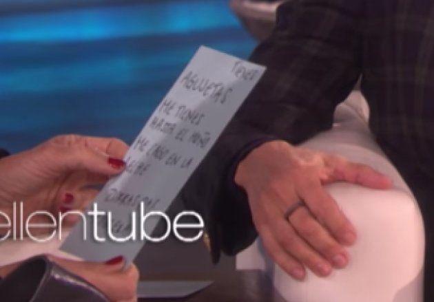 Ellen DeGeneres pide a Penélope Cruz que le dé clases de español y ella le enseña estas dos
