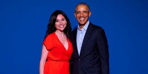 Marta Flich, con Barack