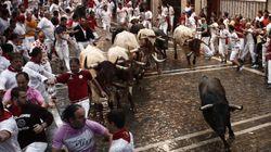 Segundo encierro de San Fermín: protagonizado por la lluvia y con cuatro heridos por