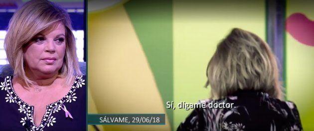 Terelu Campos supo en directo que volvía a sufrir cáncer y disimuló