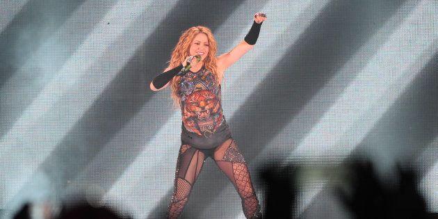 Shakira durante el concierto de Madrid, el pasado de