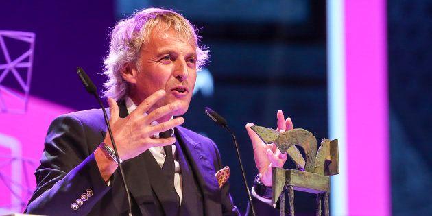 Jesús Calleja en la gala de entrega de los premios Ondas