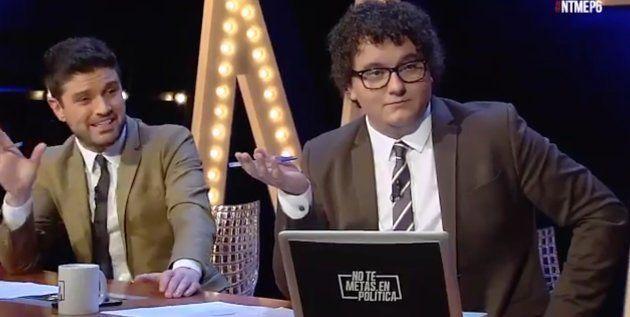 Facu Díaz y Miguel Maldonado, presentadores de No Te Metas En