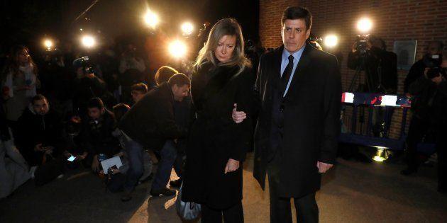 Los padres de Diana Quer a su llegada al funeral por su