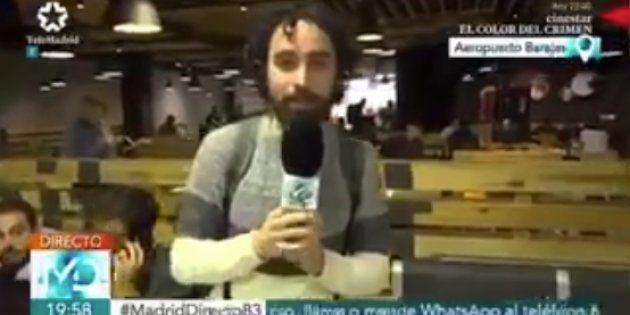 Roban el abrigo a un reportero durante una conexión para 'Madrid